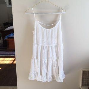 Brandy Melville White Open Back Sundress